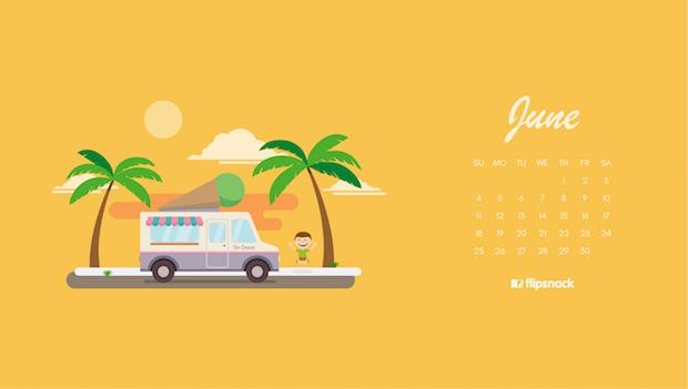 June wallpaper ice cream truck