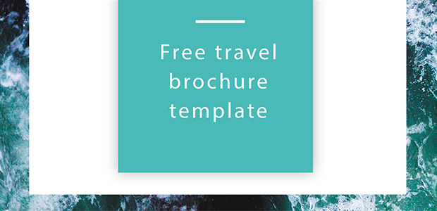 free travel brochure template indesign