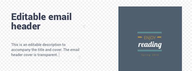 editable email header