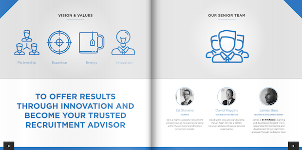 finance booklet design