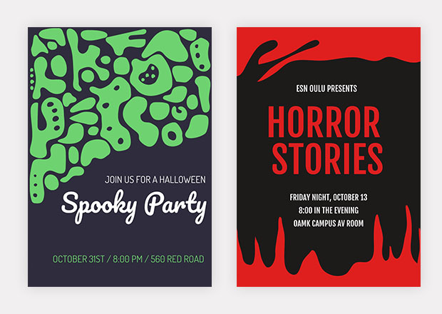 scary party flyers