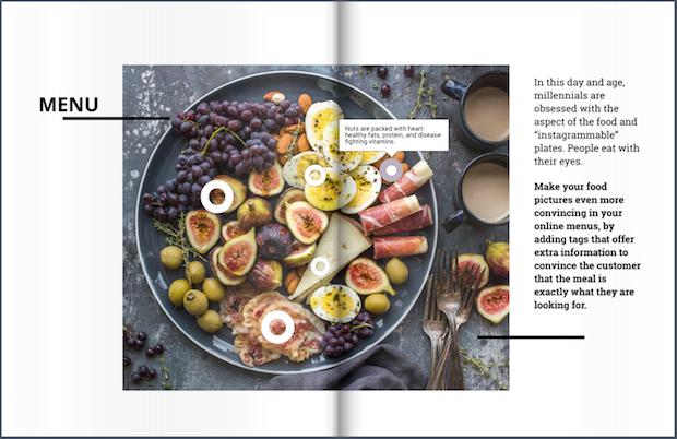 menu with nutritional info