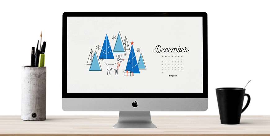 December desktop background