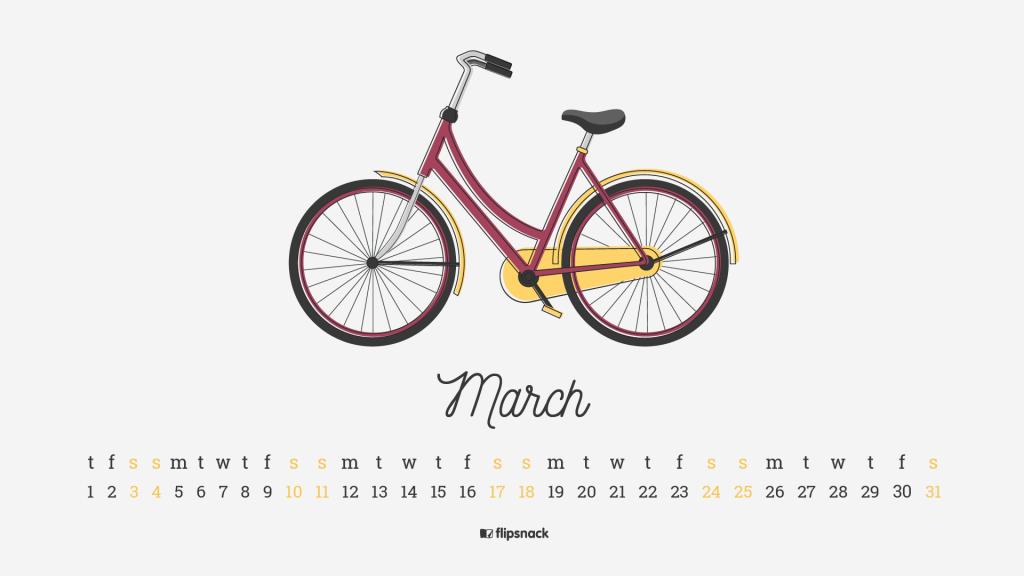 march 2018 calendar wallpaper