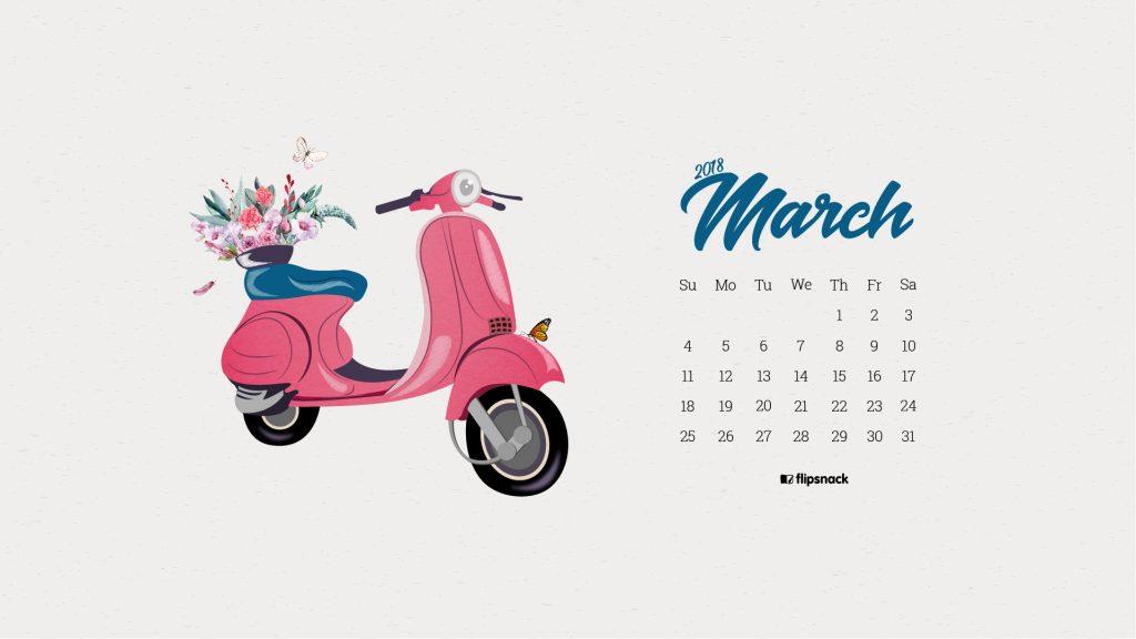 march 2018 wallpaper calendar