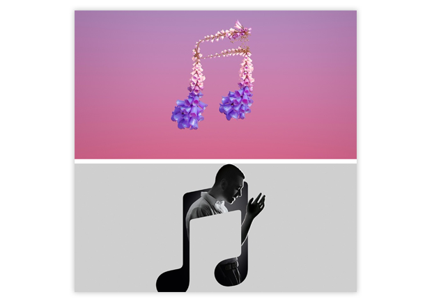 graphic trends 2018 apple music
