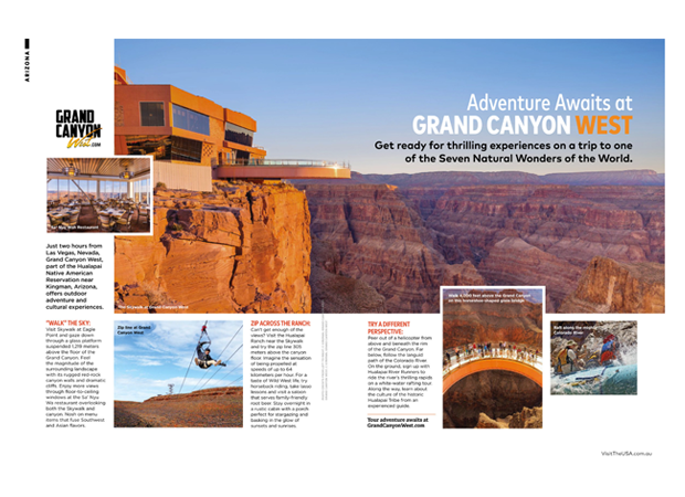 How to make a travel brochure grand canyon