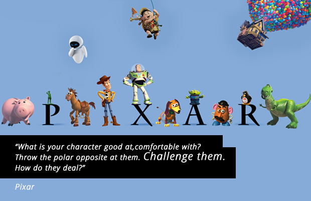 writing tips from pixar