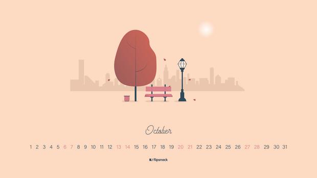 October 2018 desktop background