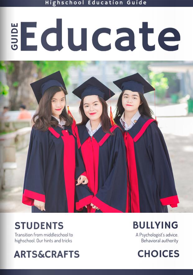 School & College Magazine Cover Template