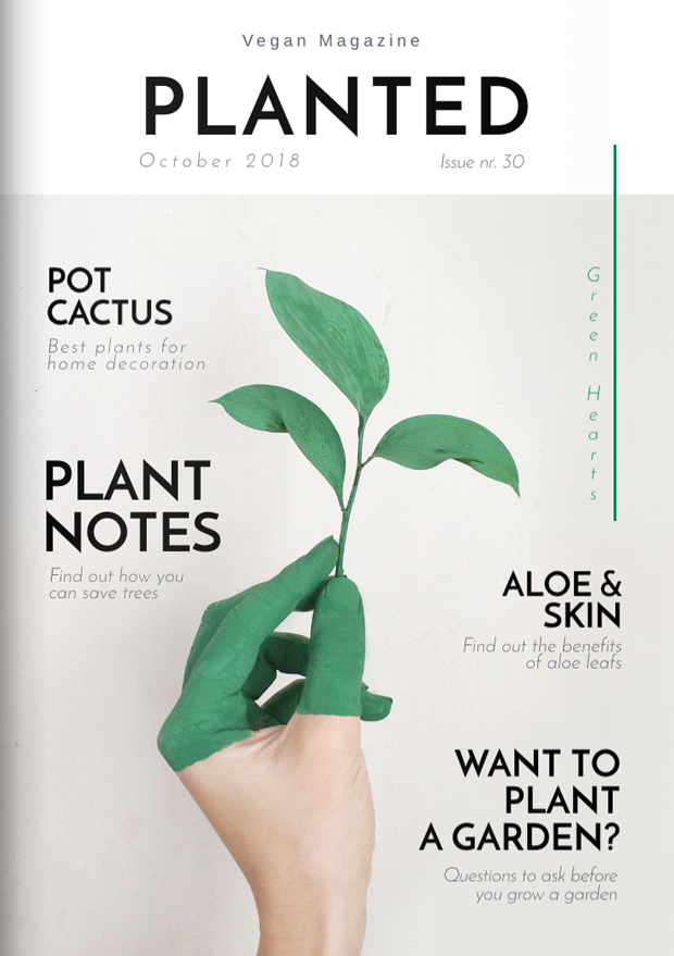 Fancy Gardening Magazine Cover Template