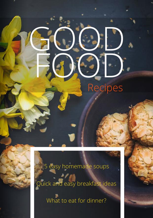 Cookbook Magazine Cover Template