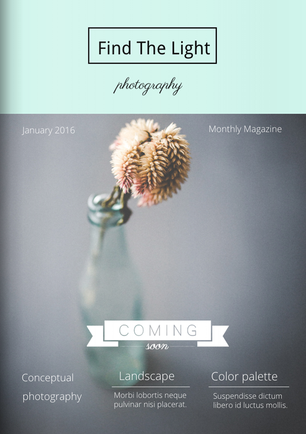 Pastel Photography Magazine Cover Template