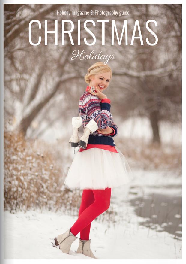 Winter Magazine Cover Template