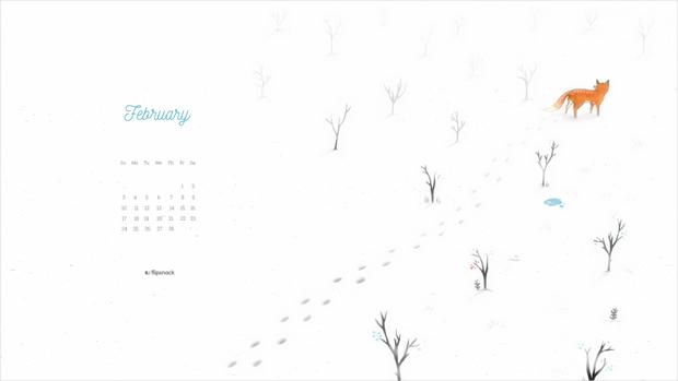 Free 2019 February wallpaper calendar