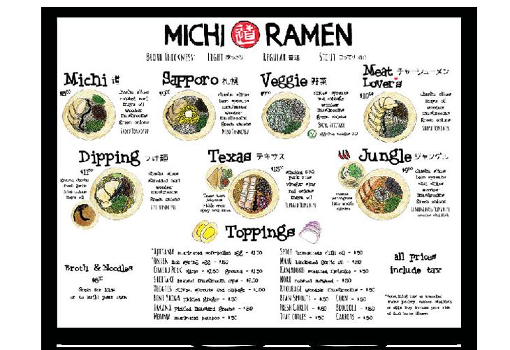restaurant menu design example