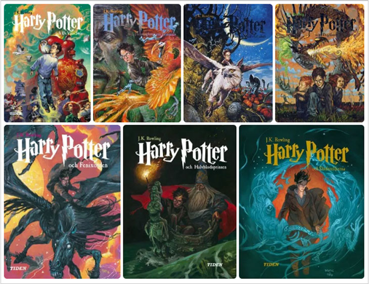 harry potter book covers sweden