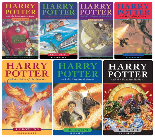 harry potter book covers uk