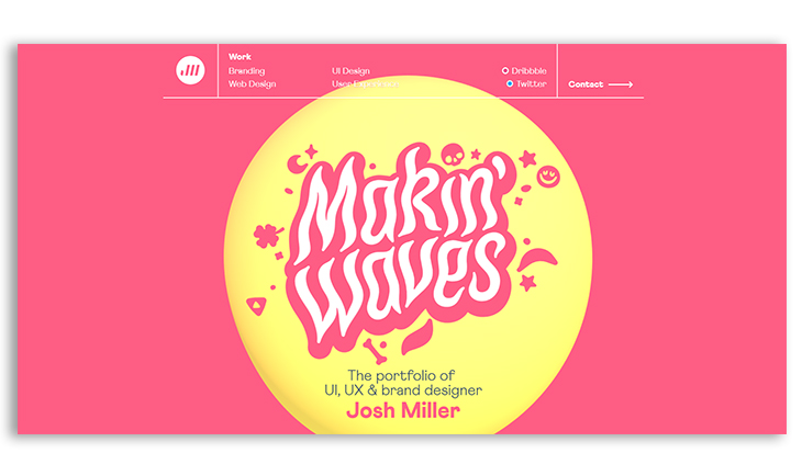 Incredible digital graphic design portfolio examples ...