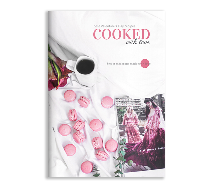 pink cookbook template